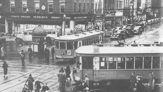 Trolley tracks entered and exited York's Continental