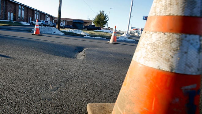West Chemung Place in Elmira has been closed between Main and Harmon streets for a possible sinkhole on Thursday.