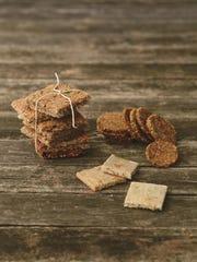 Grain-free lemon peppered almond crackers