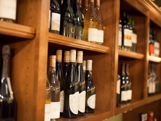 Wines at We Olive & Wine Bar, below, are from small