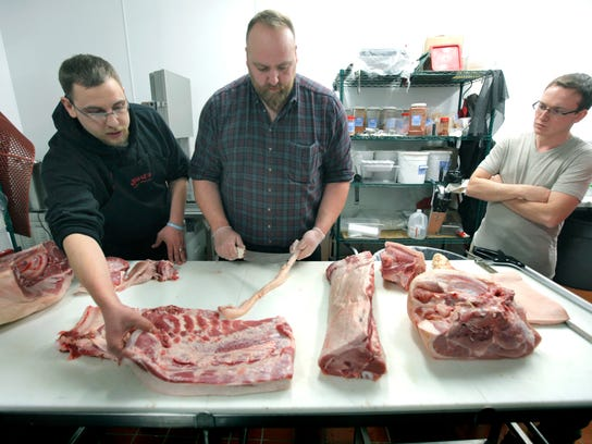 Meat and seafood supervisor Korey Mobilio of Henrietta