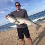 Brandon Jaskewich caught this 41 inch rockfish on bunker