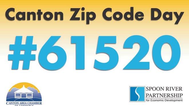 Canton Zip Code Day is Monday.