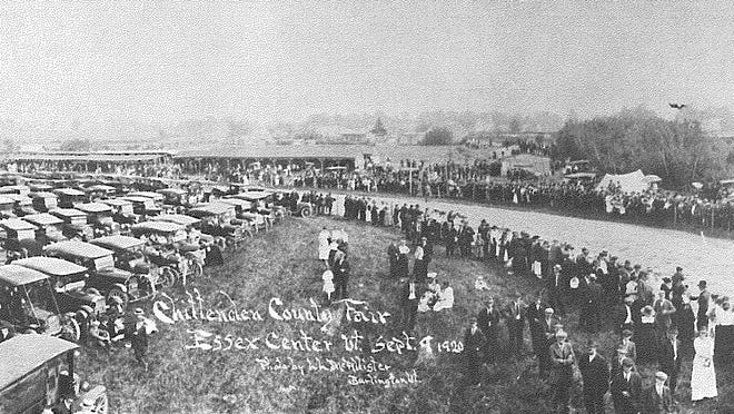 Photo from 1920 shows when the Champlain Valley Fair was called the Chittenden County Fair and held at the Grange in Essex Center.