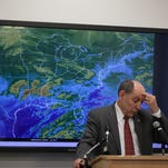 National Weather Service Director Louis Uccellini speaks during a news conference on a winter storm forecast January 21, 2016 at the NOAA Center for Weather and Climate Prediction in College Park, Maryland.