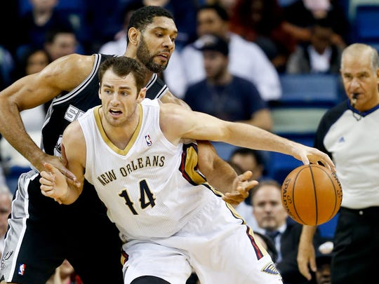 Jason Smith, a former CSU star, is pictured playing for the New Orleans Pelicans.