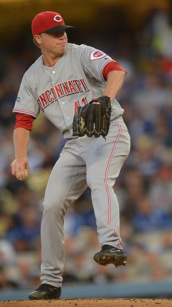 Cincinnati Reds starting pitcher Daniel Wright (41)