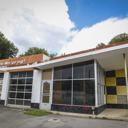 The former Happy Motoring Gas Station, 1215 S. Adams