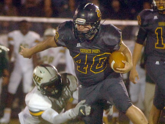FILE -- Church Point's Christian Veronie (40) fights