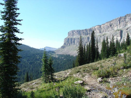The Chinese Wall in the Bob Marshall Wilderness.