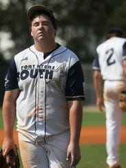 South Fort Myers pitcher Keaton Kenworthy leaves the
