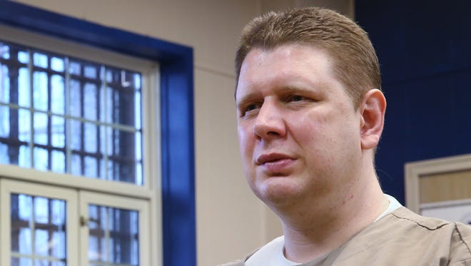 Offender Andy Royer talks about his case, Friday, February 24, 2017.  He was convicted of murder in 2005 and is now an inmate at Pendleton Correctional Facility.  He says he is innocent, and a local attorney is now trying to get the conviction overturned.