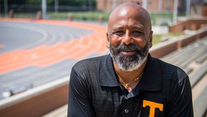 Tony Parrilla, pictured at Tom Black Track at LaPorte Stadium on the University of Tennessee's campus on Thursday, July 5, 2018, will be inducted into the Greater Knoxville Sports Hall of Fame on Aug. 7.