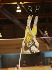Clarkstown South's Thomas Qualter competes in the pole