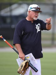 Tigers manager Ron Gardenhire watches the action during spring training on Tuesday, Feb. 20, 2018, at Joker Marchant Stadium in Lakeland, Fla.