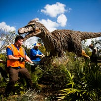 Back from extinction: Animatronic dinosaurs come to life at Naples Botanical Garden
