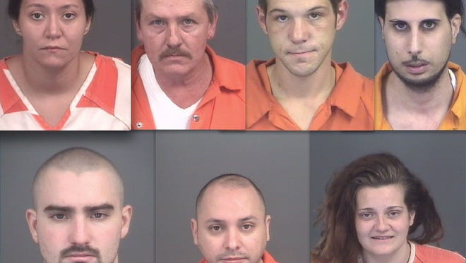 Top row, from left: Maria Fairbrother, Ricky Lichlyter, Andrew Bartel-Sixbey and Sander Soka. Bottom row: Christopher Boguth, Fernando Sanchez Torres and Bishop Shepard.