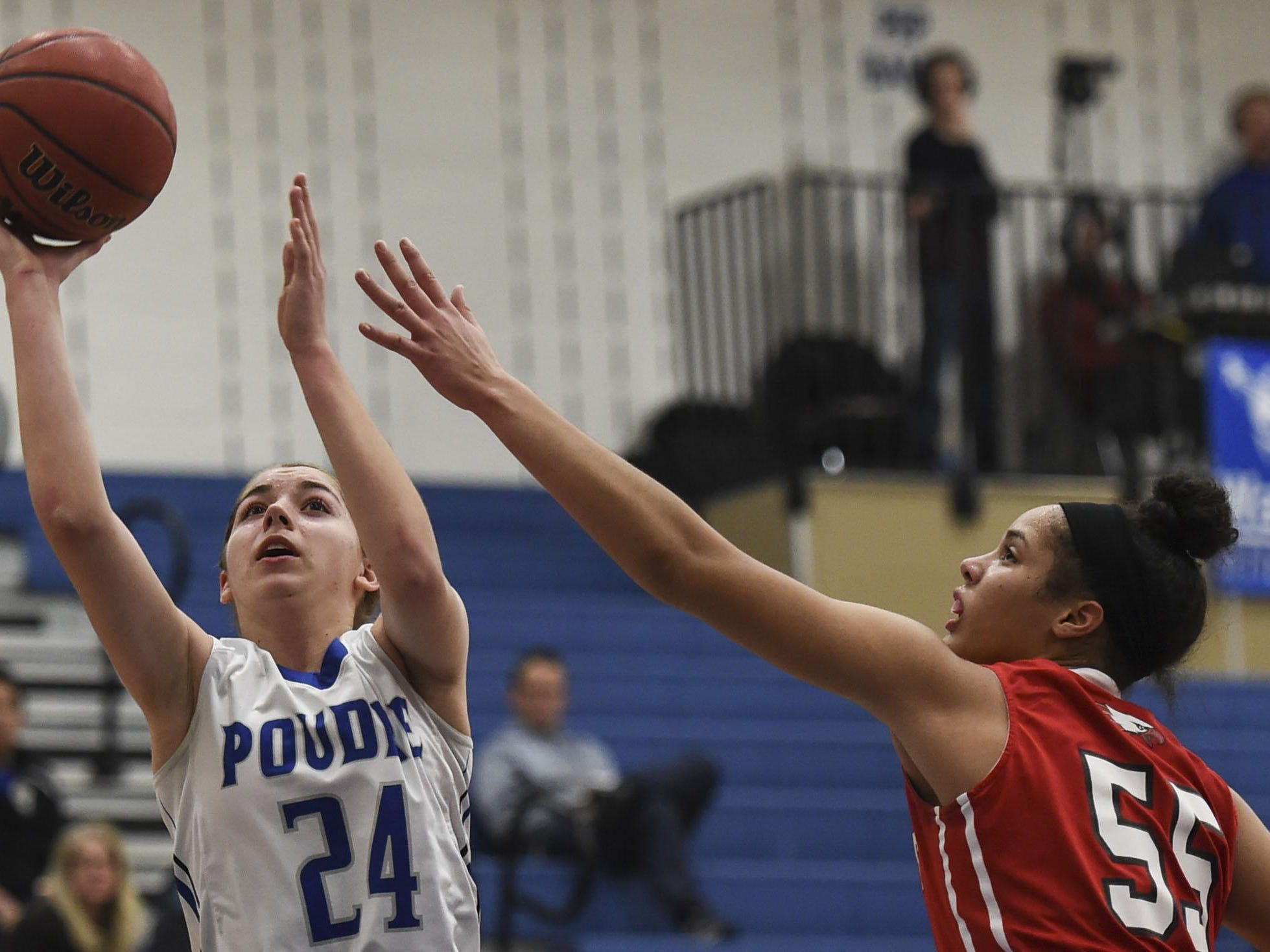 Poudre's Anna Haugen, left, has verbally committed to play at the South Dakota School of Mines.