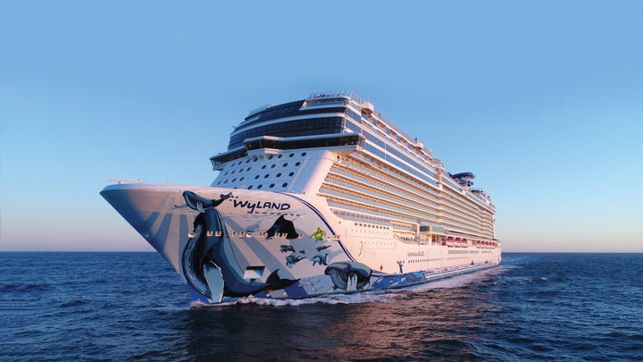 At 168,028 tons, Norwegian Bliss is the biggest ship
