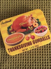 A fun and tasty way to keep from overeating this Thanksgiving is searching low-calorie treats on the Internet. You may find something as crazy as Thanksgiving-flavored gumballs.