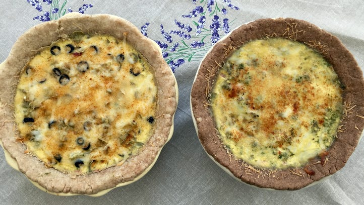 These creamy artichoke pies can be made with or without