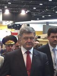 Ukrainian President Petro Poroshenko at the IDEX show