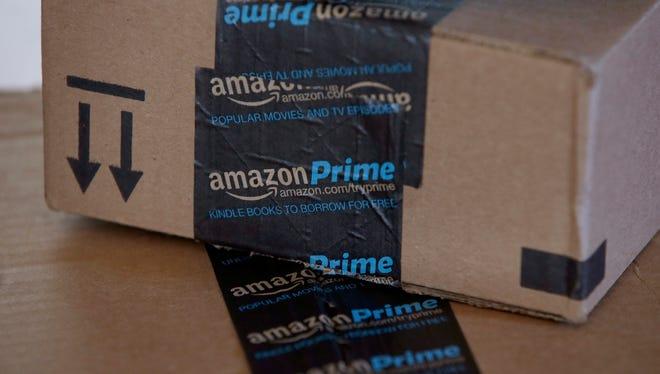 Amazon.com boxes in Phoenix.