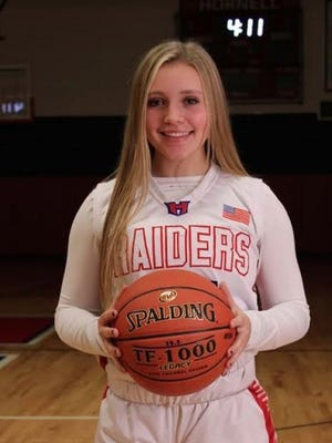 Leah Harkenrider entered the elite company of Hornell 1,000 point scorers this season.