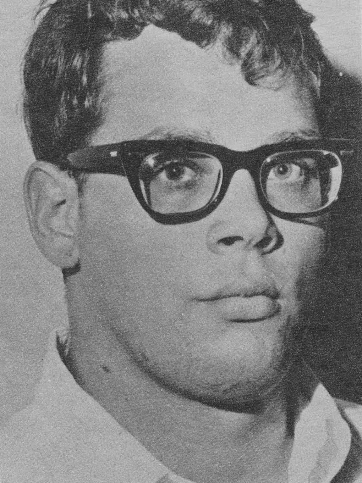 George E. Reck, then 19, was shot four times as he lay on the floor of his father's pharmacy in Hamburg Township in January 1967.