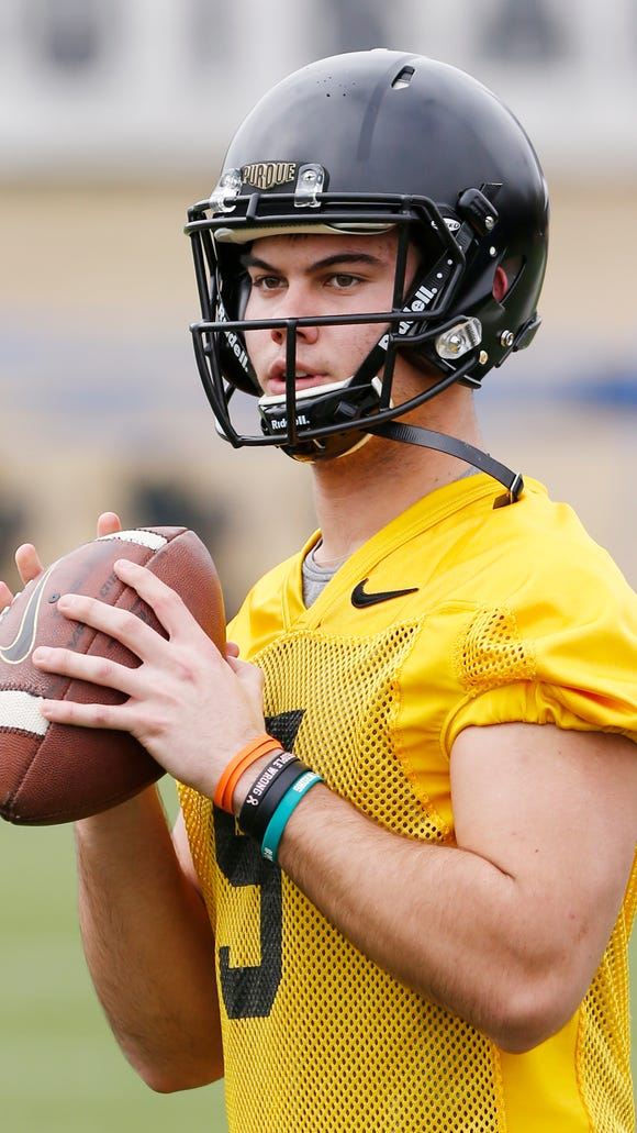 Redshirt freshman quarterback Griffin Alstott during