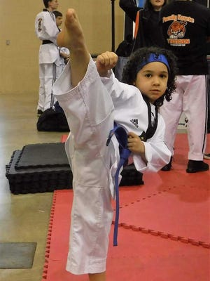 Joshua Aguirre, a six-year old Lebanon Catholic kindergarten student will compete in the USA National Taekwondo  Championships 2018 in Salt Lake City in July.