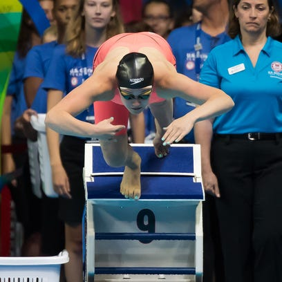 Ruby Martin competes during the 2016 Olympic Trials