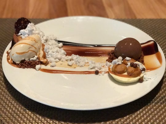 Deconstructed Snickers Bar dessert at Gayeon