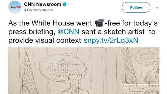CNN sent a sketch artist to the White House on Friday.