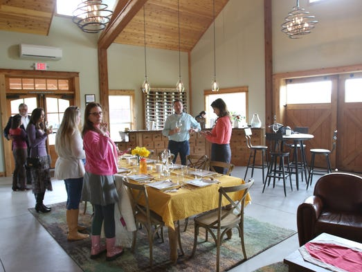 Domaine Divio owner and winemaker Bruno Corneaux welcomes