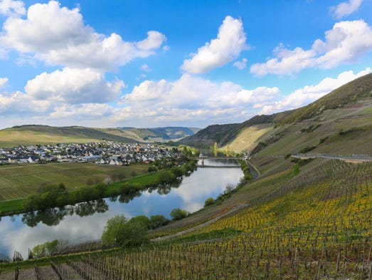 Showstopping scenery abounds throughout Germany's wine