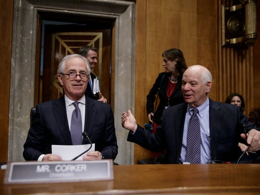 Corker and Senate Foreign Relations ranking member