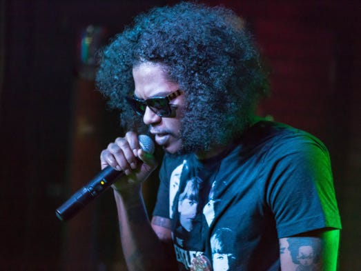 Rapper Ab-Soul preforms songs from his new album 'Do