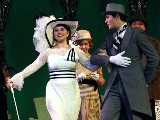 Hannah Bryan and Michael Matherne star in Strauss Theatre