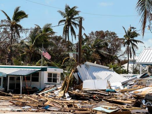Strongest Irma Winds Locally At St George Island Bridge
