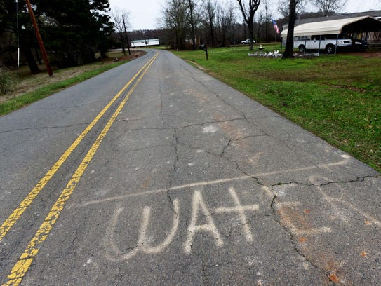 The word water is marked on Pelican Lodge Rd which