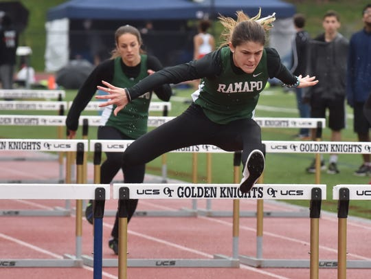 Ramapo Grace O'Shea wins 110m hurdles on Second Day