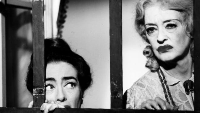 Joan Crawford, left, and Bette Davis in a scene from 'What Ever Happened to Baby Jane?'
