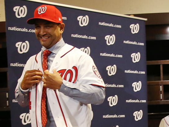 Dave Martinez was named manager of the Nationals in