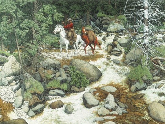 """""""The Forest Has Eyes"""" by Bev Doolittle features the"""