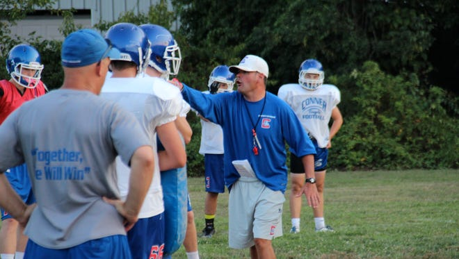 """Conner coach David Trosper: """"I'd like to be able to play the schools in our district in a district game again. We already have great rivalries and now those games would take on extra meaning."""""""