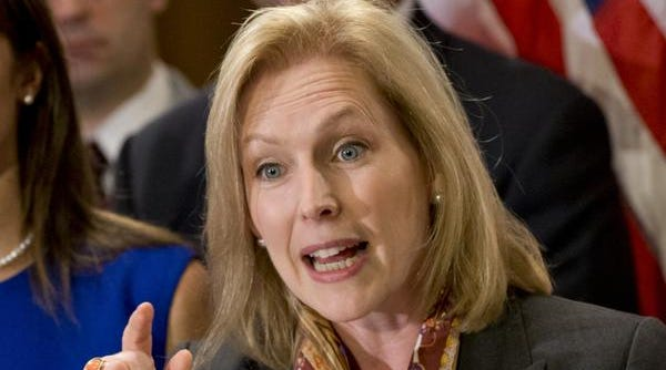 Sen. Kirsten Gillibrand, D-N.Y., speaks on Capitol Hill in Washington.