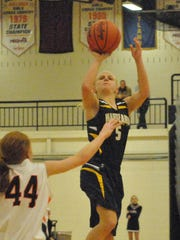 Maddie Pogarch played soccer and basketball for Hartland before adding football this season.