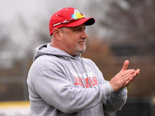 Beechwood Head Coach Kevin Gray cheers on his Tigers