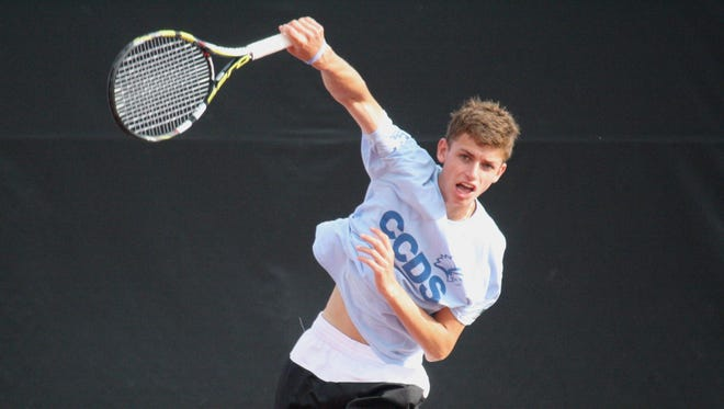 Cincinnati Country Day senior Asher Hirsch failed in his quest for a third consecutive state title, but still finished in third at the OHSAA state tennis tournament Saturday.